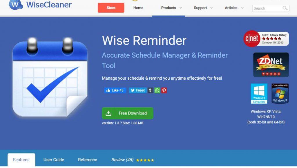 电脑上好用的记事提醒软件--Wise-Reminder